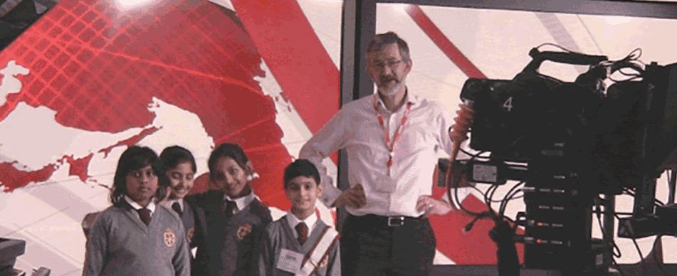 Pupils visit BBC-TV six o'clock news
